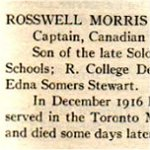 "Honor Roll– From the ""University of Toronto / Roll of Service 1914-1918"", published in 1921."
