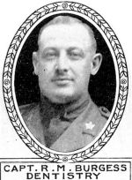 Photo of Rosswell Burgess– From: The Varsity Magazine Supplement Fourth Edition 1918