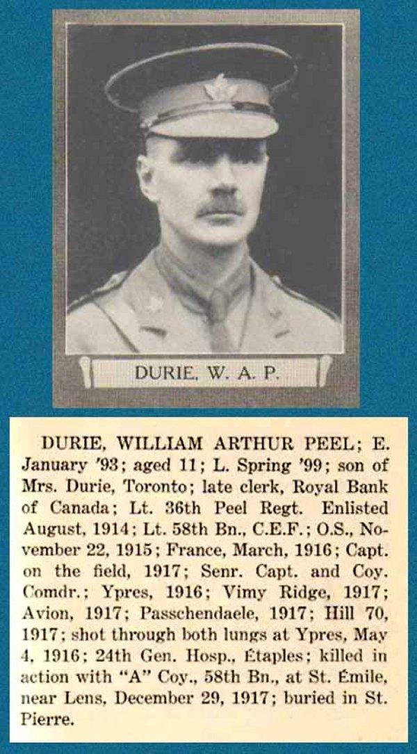 Photo of William Arthur Peel Durie