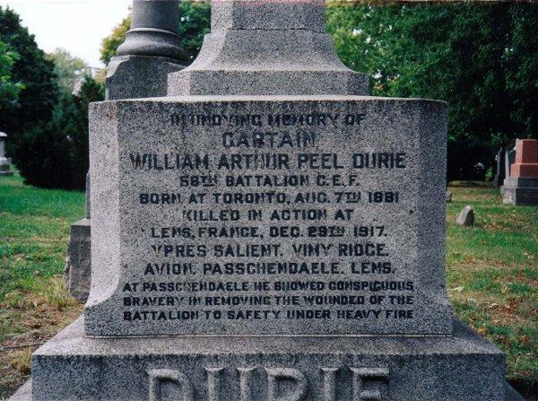 Durie Family Memorial - detail