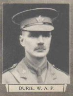 """Photo of William Arthur Peel Durie– From """"The War Book of Upper Canada College"""", edited by Archibald Hope Young, Toronto, 1923.  This book is a Roll of Honour including former students who served during the First World War."""