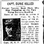 Newspaper Clipping– Clipping from the Toronto Star for 2 January 1918.
