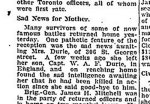 Newspaper Clipping– From the Globe & Mail for 8 January 1918, page 7.