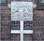 Todmorden Sons of England (SOE) war memorial– Memorial Tablet located at St. Barnabas Church, Danforth Avenue, Toronto.   Erected by the Sons of England Benefit Society, Todmorden Lodge No. 298.   Unveiled on August 21, 1920.