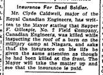 "Coupure de presse – Coupure de presse du ""Toronto Star"" du 10 août 1915."