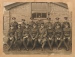 Photo of Harry Watts– Not sure if Harry Watts is in picture, it lists him as being in same regiment as my great grandfather Byron A Jones who is in front row seated 6th from left to right.