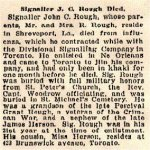 Newspaper Clipping– Sapper John Cecil Routh's last name was spelled incorrectly in this article.