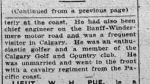 Newspaper clipping– Calgary Daily Herald