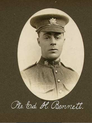 Photo of EDWARD HENRY BENNETT– In memory of the employees of the T. Eaton Company that went to war and did not come home.  Submitted for the project, Operation: Picture Me