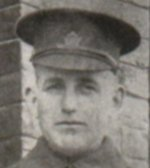 Photo of Alexander Brown– Private Brown enlisted in the 153rd Battalion in October 1915.