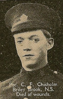 Photo of Colin Chisholm– From the book, Catholics of the Diocese of Antigonish, Nova Scotia and the Great War 1914- 1919.  Submitted for the project, Operation: PIcture Me