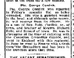 Coupre de presse – From the Perth Courier for 6 octobre 1916.