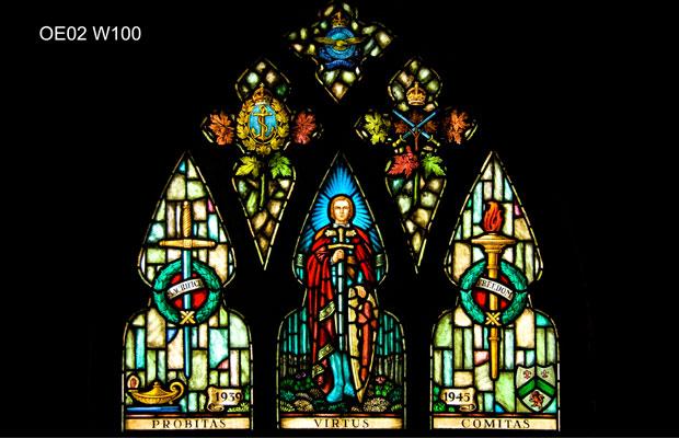 Memorial Stained Glass– Ashbury College, Ottawa stained glass war memorial window Sir Galahad