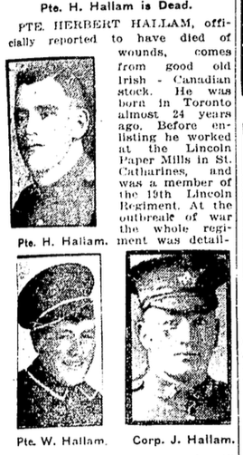 Photo of HERBERT LLOYD HALLAM– From the Toronto Star. Submitted for the project, Operation: Picture Me