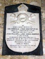 Memorial Plaque– Memorial plaque to Lieutenant A J Harvey in St Michael's Church, Shalfleet, isle of Wight, England.