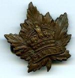 Insigne – Insigne de la casquette d'Henry appartenant au 222e Bataillon du Corps expéditionnaire canadien.