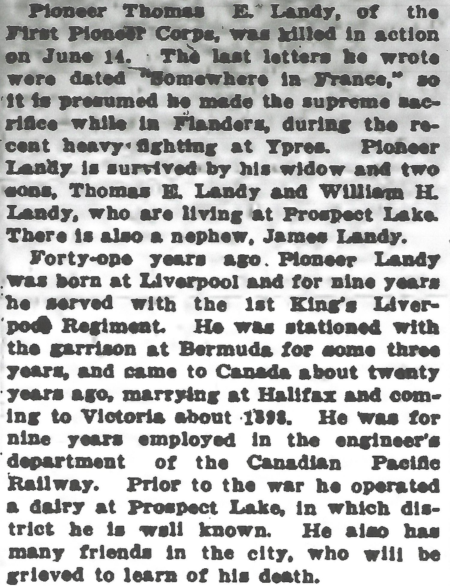 Newspaper clipping– From the Daily Colonist of June 23, 1916. Image taken from web address of https://archive.org/stream/dailycolonist58y167uvic#mode/1up.