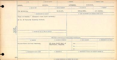 Circumstances of death registers– Contributed by E.Edwards www.18thbattalioncef.wordpress.com