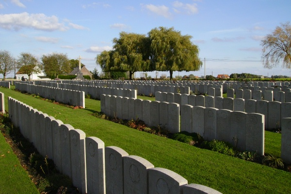 Cemetery– Lijssenthoek Military Cemetery … photo courtesy of Marg Liessens