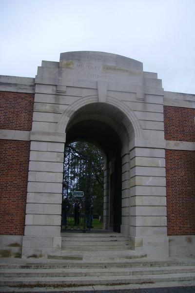 Cemetery– Entrance - Lijssenthoek Military Cemetery … photo courtesy of Marg Liessens