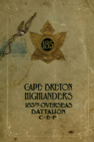 Memorial– In memory of the men who joined the 185th Battalion (Cape Breton Highlanders) who went to war and did not come home. Submitted for the project, Operation Picture Me