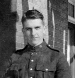 Photo of ROBERT OSBOURNE SMITH– Rob Smith on the front porch of his home in Ottawa, before leaving for the front.