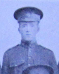 Photo of Arthur Tandy– Enrolled with the 37th Bn. CEF.  Submitted for the project, Operation: Picture Me