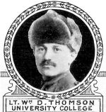Photo of William Thomson– From: The Varsity Magazine Supplement Fourth Edition 1918