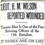 Press Clipping– From the Toronto Star for 5 August 1915, page 3.