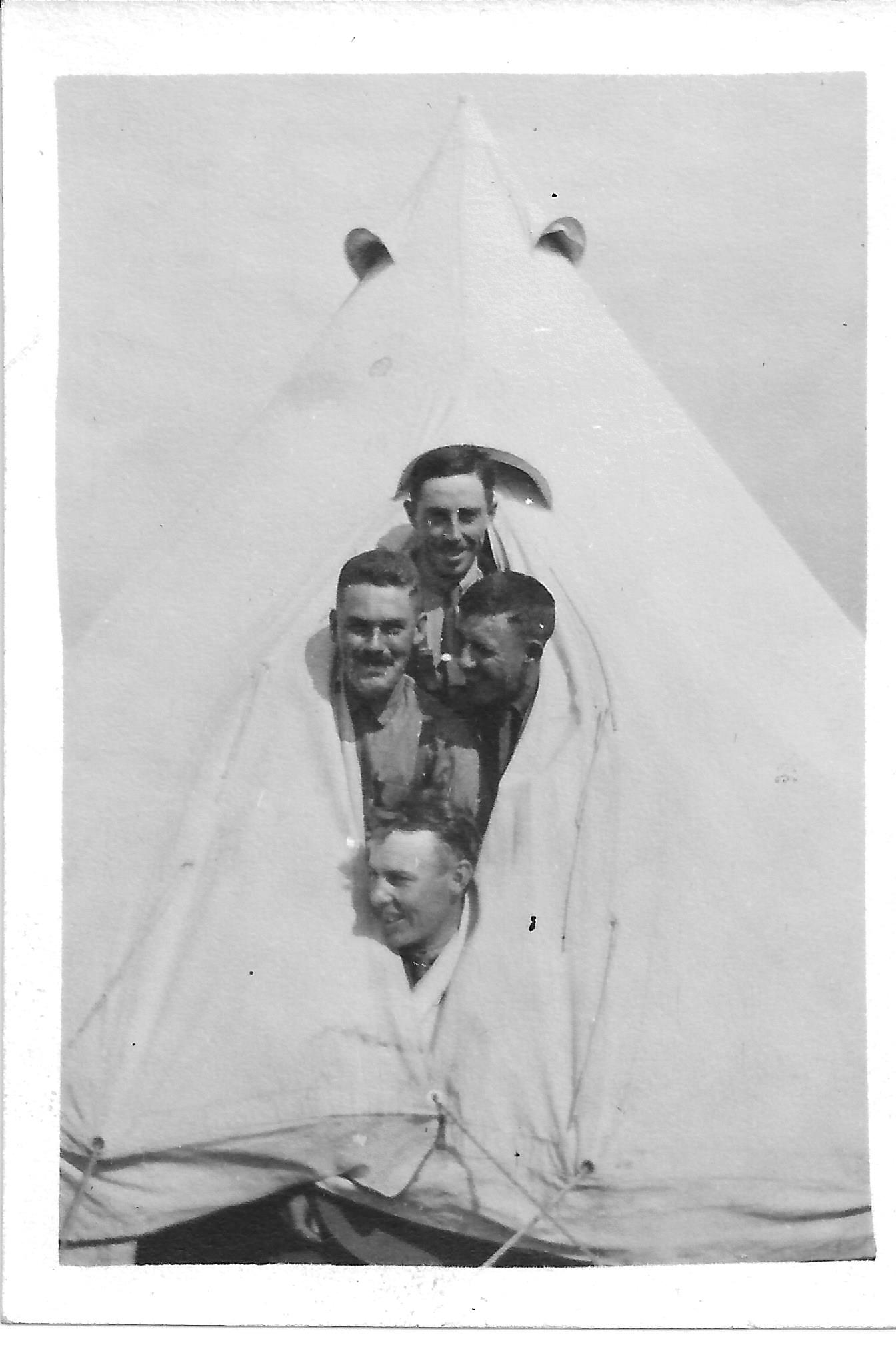 Group Photo– Top - Stanley Campbell, middle left is George Ewens his brother in law.  In training.