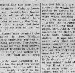 Newspaper clipping– Clipping from Calgary Daily Herald May 1, 1916