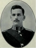 Photo of Ian Robert MacNaughton– 903 Lt. Ian Robert Reekie MacNaughton (RMC 1911-1914) was born at Westmount, Quebec July 17th, 1893. When he studied at RMC in 1912-13 he was captain of the hockey and tennis team, played on the gym squad and won several trophies for paddling. He enjoyed debating and golf. He was the literary editor of the Stone Frigate. He studied at MCGill Arts 1909-11 and Law 1914-15. He enlisted with the Canadian Overseas Expeditionary Force in 1914. He served with the Canadian Infantry (Quebec Regiment) 24th Batallion. He served in France. He was killed in action on Apr 26, 1916 and was buried in Dickebusch New Military Cemetery 5 Km south west of Ieper town centre, Belgium grave reference: J. 12. He is on a list of alumni in Memoriam 1914-1918 compiled for the McGill University's Memorial Service on October 6, 1946 marking the laying of the cornerstone of Memorial Hall. He was commemorated on Page 130 of the First World War Book of Remembrance. The Stone Frigate, 1914 http://www.archive.org/details/stonefrigate191400kinguoft