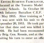 Biography– Erving Rushton Fairclough's biography from the University Schools' 1916 edition of the Annals.