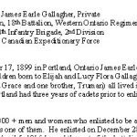 Biography - page 1– Biography courtesy of the Lest We Forget remembrance initiative of the Smith Falls District Collegiate.