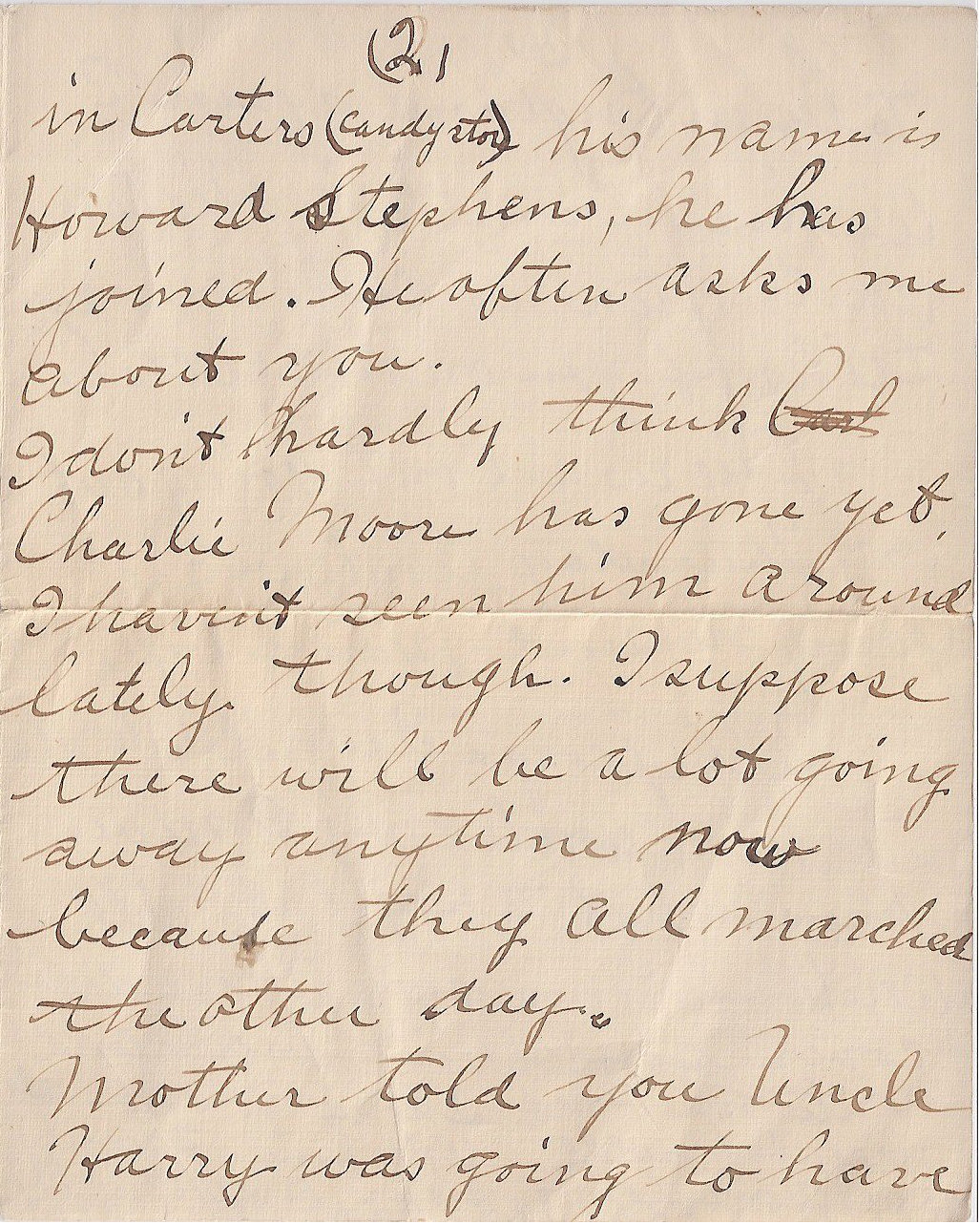 Letter to  FREDERICK CHARLES SWAIT– The second of four pages of a letter sent from my grandmother to Uncle Fred, returned to her because he was deceased.