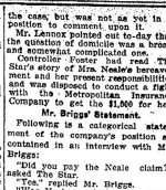 Newspaper Clipping (3 of 3)– Third and final part of a clipping from the Toronto Star for 20 March 1915.