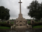 Cross of Sacrifice– St. Quentin Cabaret Military Cemetery, Belgium Photo courtesy of J. Elliott/J. Rutledge, The Men of Huron WW1 Project
