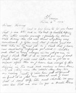 Letter from John Davis - p. 1– The letter was 4 pages in length and  dated Dec. 6, 1915.  John was killed on  24th Dec. 24, 1915. We would imagine that the letter may have arrived in Australia about the time the family was notified of his death.