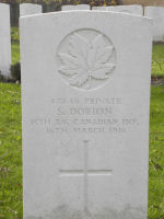 Photo of SIMEON DORION– Photo by BGen (ret'd) G. Young, submitted by Capt (ret'd) V. Goldman 15th Bn Memorial Project.  DILEAS GU BRATH