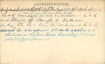 Photo of SIMEON DORION– Record of Service Card (reverse side).  Submitted by 15th Bn Memorial Project Team.  DILEAS GU BRATH