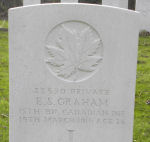 Grave Marker– Photo by BGen (ret`d) G. Young, submitted by Capt (ret`d) V. Goldman 15th Bn Memorial Project.  DILEAS GU BRATH