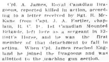 Newspaper clipping– From the Daily Colonist of July 27, 1915. Image taken from web address of https://archive.org/stream/dailycolonist57y196uvic#mode/1up