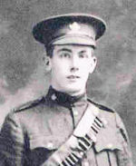 Photo of John Stiby Groves– Corporal John Stiby Groves (Courtesy of 'So Far From Home, Armstrong's Fallen of the Great War', Leonard J. Gamble, Author)