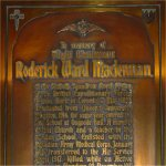 Memorial Plaque– Memorial plaque located inside St. Andrew's Presbyterian Church, King Street West at Simcoe Street in Toronto, Ontario.