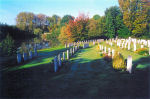 Cemetery– The Ramparts Lille Gate Cemetery, in the town of Ieper (Ypres), Belgium.  (J. Stephens)