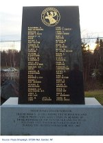Monument– Isaac is commemorated on the Newfoundland Forestry Unit's monument in Grand Falls / Windsor, Newfoundland.