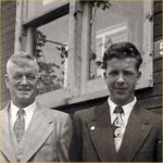 Photo of  Ronald George Howe Rolston– F.O. Ron Rolston with father James