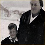 Photo of  Ronald George Howe Rolston– F.O. Ron Rolston with mother Elizabeth