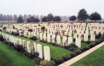 Cemetery– The New Irish Farm Cemetery, near the town of Ieper (Ypres), Belgium.  (J. Stephens)