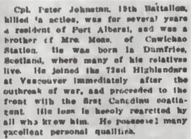 Newspaper clipping– From the Daily Colonist of June 16, 1915. Image taken from web address of https://archive.org/stream/dailycolonist57y161uvic#mode/1up